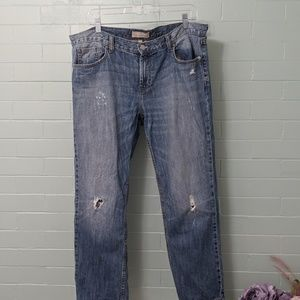 Banana republic 12p girlfriend jean distressed